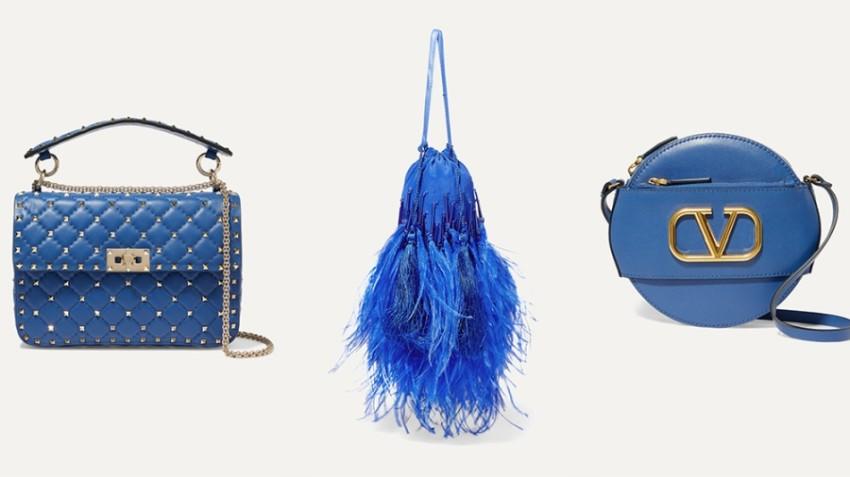 حقائب باللون الأزرق