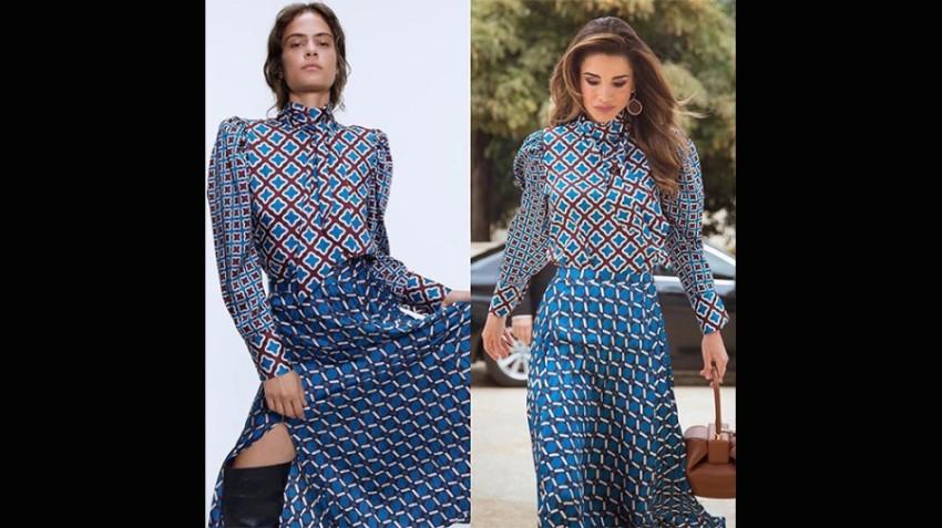 الملكة رانيا بإطلالة من زارا
