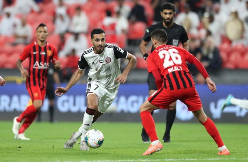 مباراة الجزيرة والفجيرة (تصوير:محمد بدر الدين)