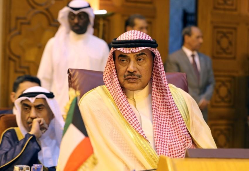 الشيخ صباح خالد الحمد الصباح رئيس وزراء الكويت في القاهرة. (رويترز)