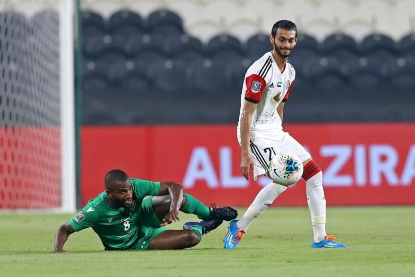 فهد حديد في مباراة الجزيرة وخورفكان