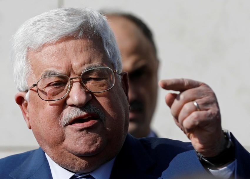 الرئيس الفلسطيني محمود عباس في الضفة الغربية. (رويترز)