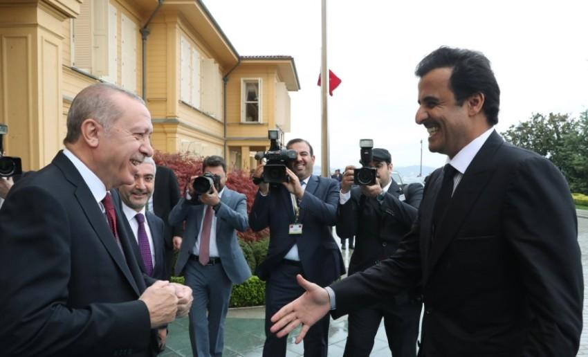 قطر تستخدم تقربها من تركيا ورقة ضغط, رجب طيب أردوغان مستقبلاً حمد بن خليفة