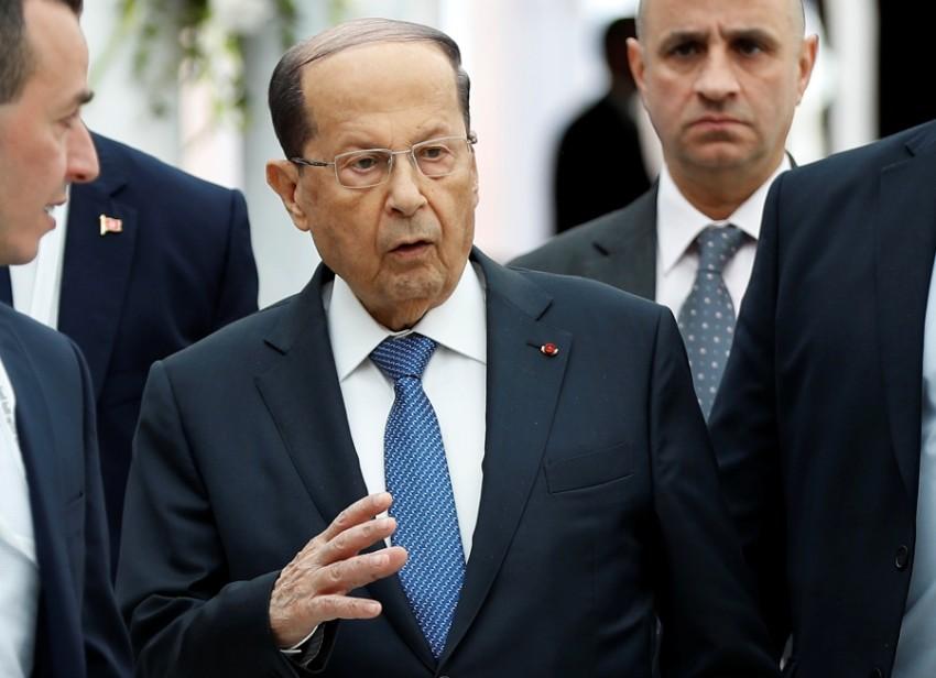 الرئيس اللبناني ميشال عون في تونس. (رويترز)
