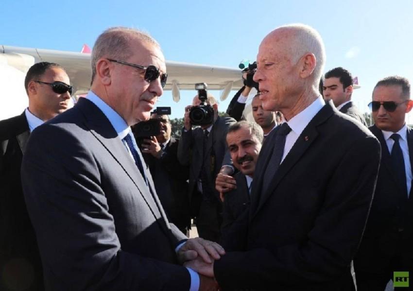 الرئيسان التونسي قيس سعيد والتركي رجب طيب أردوغان(أرشيفية)