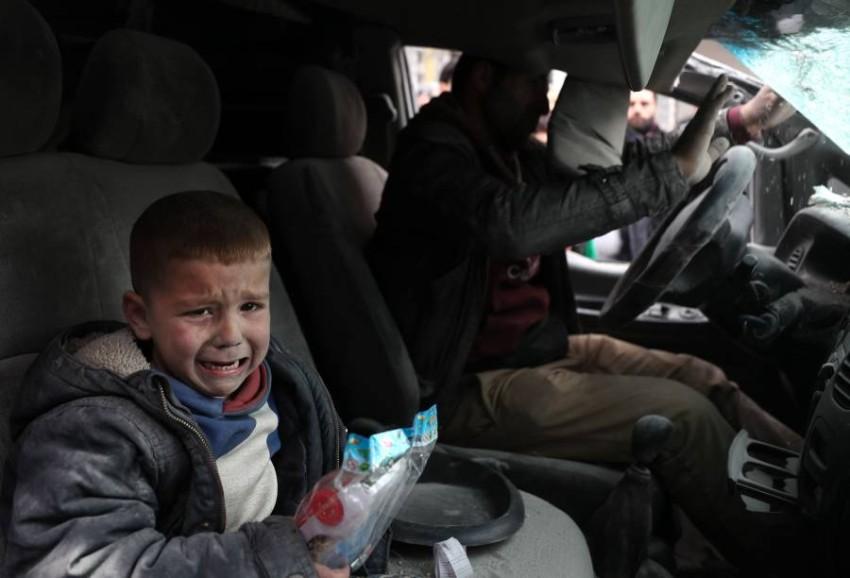 طفل سوري من ضحايا النزاع المستمر منذ سنوات (أ ف ب)