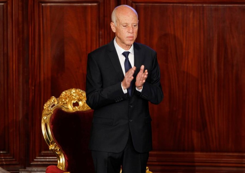 الرئيس التونسي قيس سعيد (رويترز)