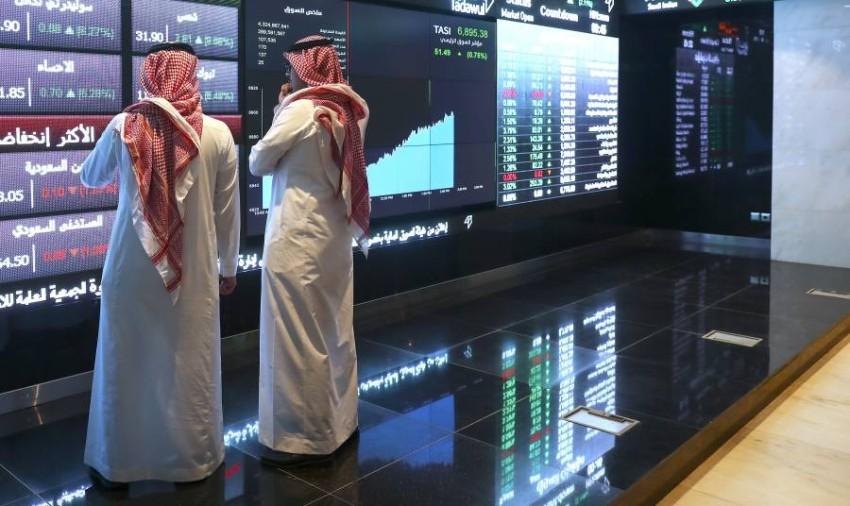 جانب من سوق الأسهم السعودية