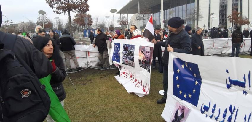 مظاهرات مناهضة للرئيس التركي رجب طيب أردوغان في برلين