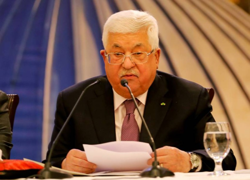 الرئيس الفلسطيني محمود عباس في رام الله. (رويترز)