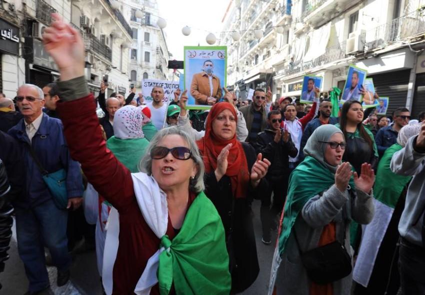 احتجاجات مناهضة للحكومة في الجزائر. (إي بي أيه)