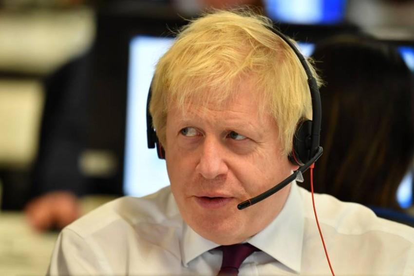 رئيس الوزراء البريطاني بوريس جونسون في لندن