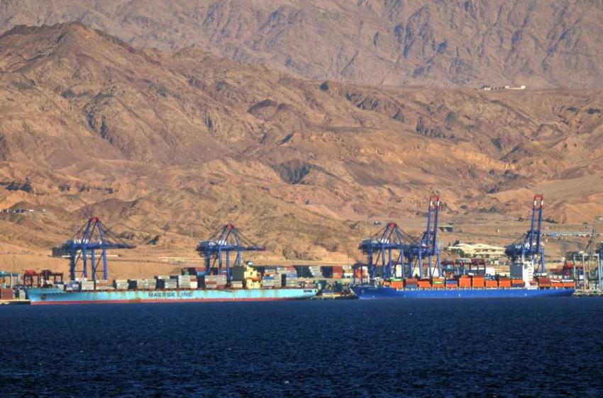 الأردن ميناء العقبة. (الرؤية)