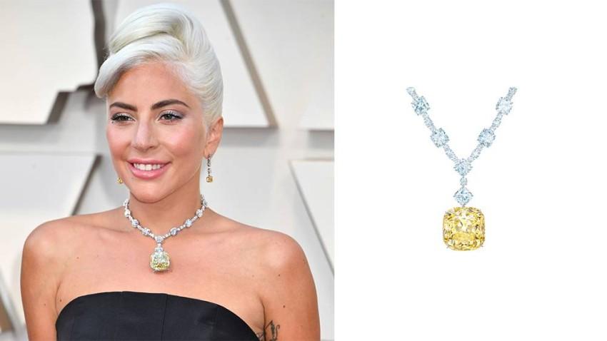 ليدي غاغا ارتدت قطعة المجوهرات الأغلى في تاريخ الأوسكار