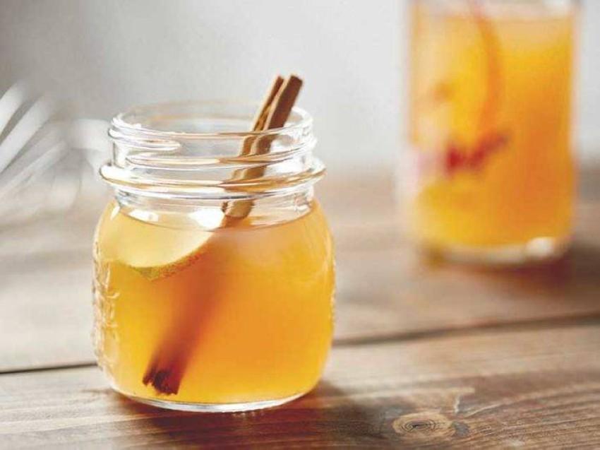 خل التفاح مع العسل.