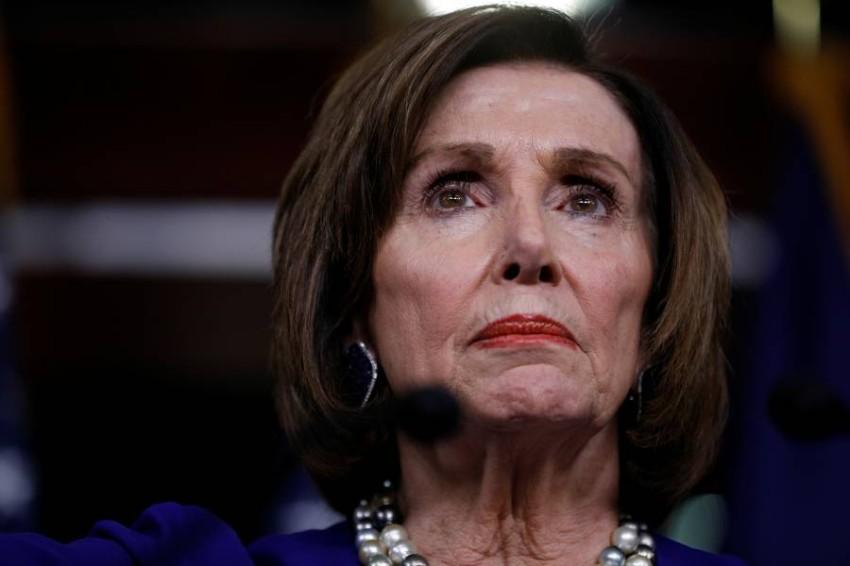 رئيسة مجلس النواب الأمريكي نانسي بيلوسي في واشنطن. (رويترز)