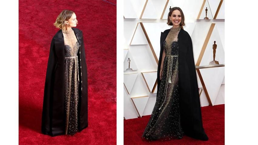 أشرفت دار ديور على تصميم الفستان وتطريزه بأسماء المخرجات اللاتي لم يترشحن لجائزة أفضل مخرج