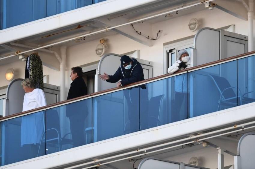 تحمل السفينة السياحية على متنها أكثر من 3600 شخص. تصوير: أ ف ب