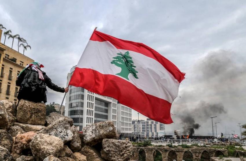احتجاجات مناهضة للحكومة في بيروت. (إي بي أيه)