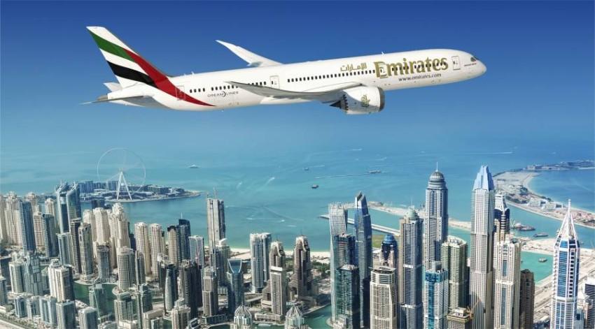 طيران الإمارات.