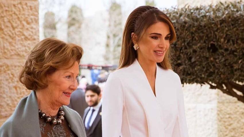الملكة رانيا في أحدث ظهور لها