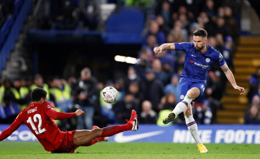 لقطة من المباراة. (رويترز)