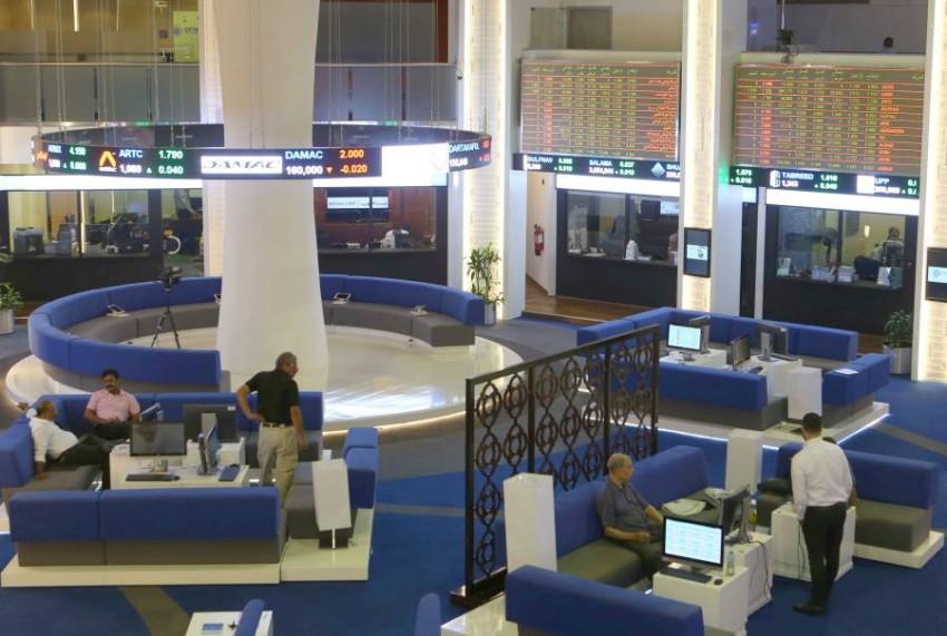 سوق دبي المالي. (الرؤية)
