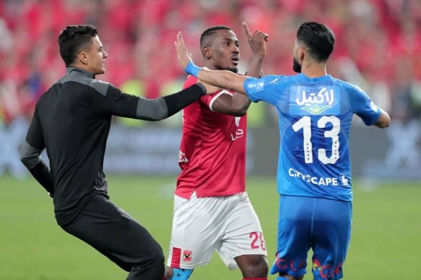 لقطة من المباراة. (أ ف ب)