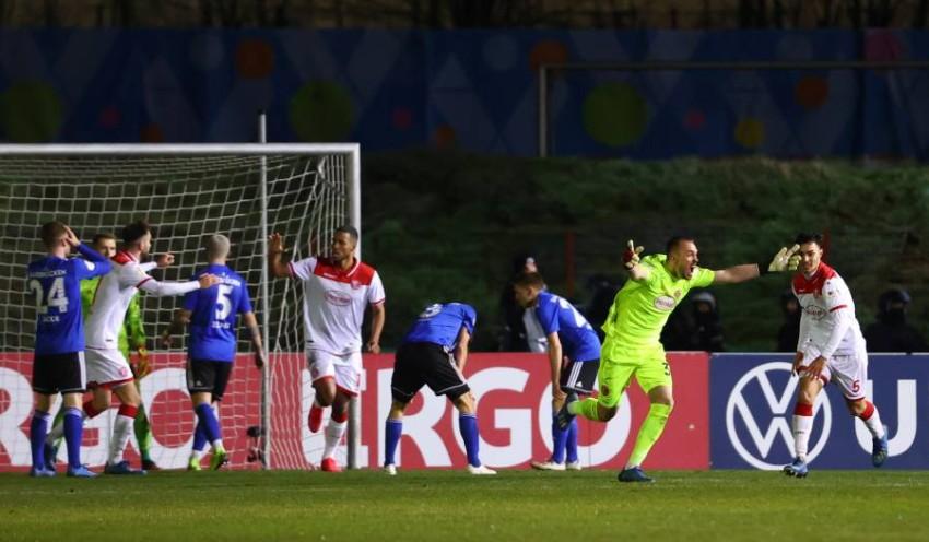 لقطة من مباراة زاربروكن مع فورتونا دوسلدورف. (رويترز)