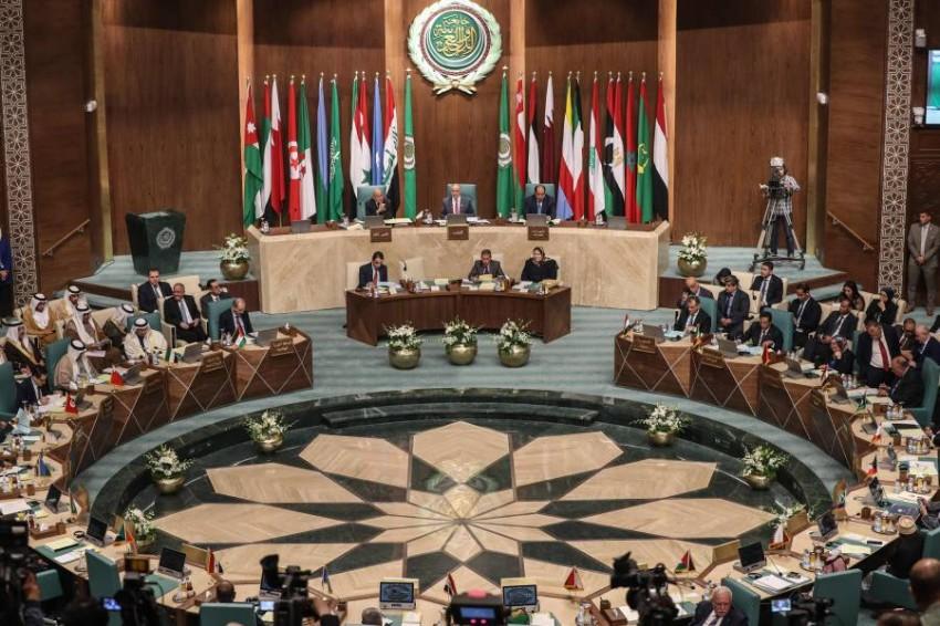 جانب من اجتماع مجلس الجامعة العربية على مستوى وزراء الخارجية في دورته العادية 153 بالقاهرة. (أ ف ب)