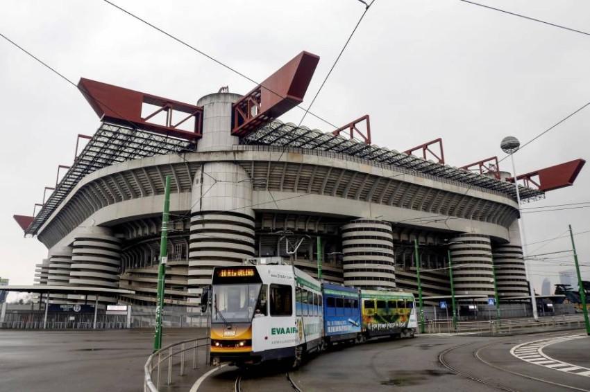 صورة لملعب سان سيرو في مدينة ميلانو. (إ ب أ)