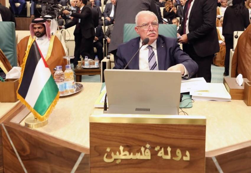 وزير الخارجية الفلسطيني رياض المالكي في اجتماع المجلس. (إيه بي إيه)