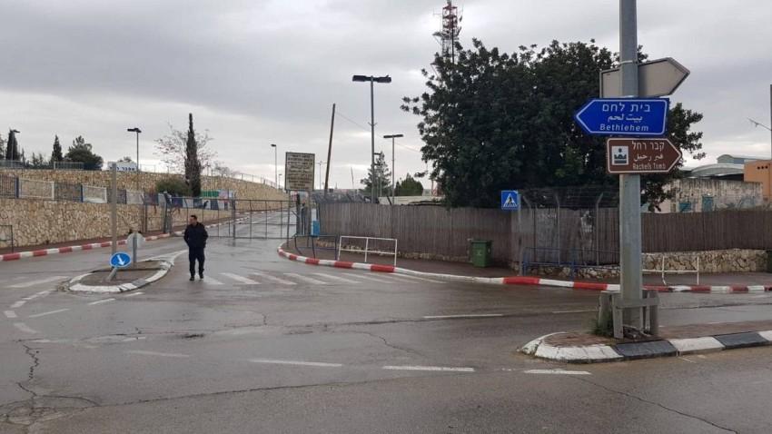 مدخل مدينة بيت لحم المغلق (من المصدر)