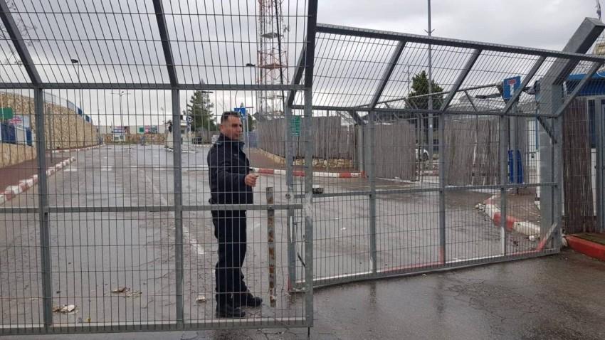 إحدى البوابات على مدخل بيت لحم مغلقة من قبل الاحتلال. (من المصدر)