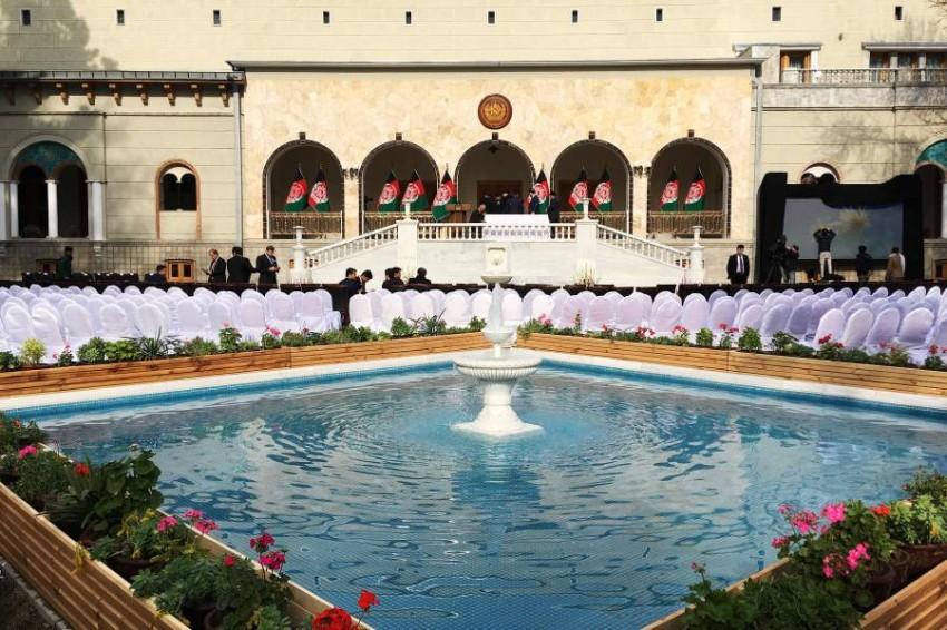 مراسم حفل تنصيب لرئيس لم يتحدد بعد. (أ ف ب)
