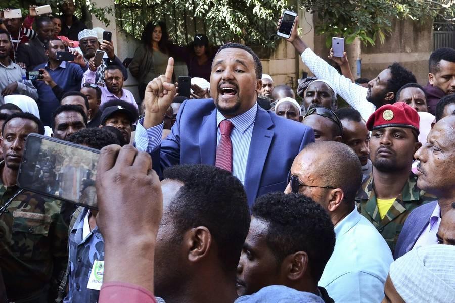 جوهر محمد في أديس أبابا. (أ ف ب)