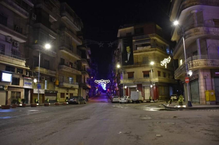 أحد أحياء مدينة حلب السورية أثناء الحظر الليلي - أ ف ب