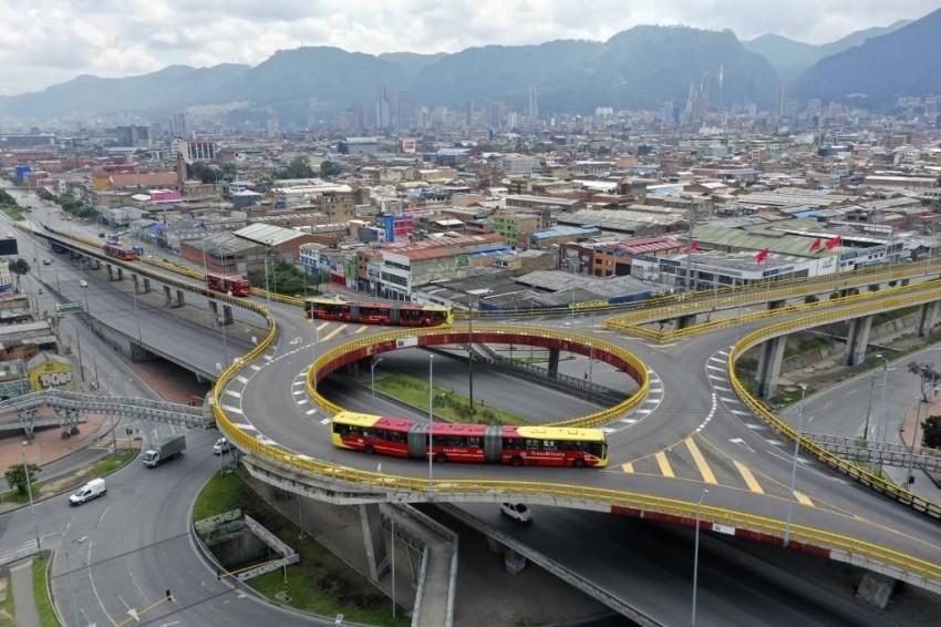 شوارع بوغوتا عاصمة كولومبيا خالية تماماً - أ ف ب