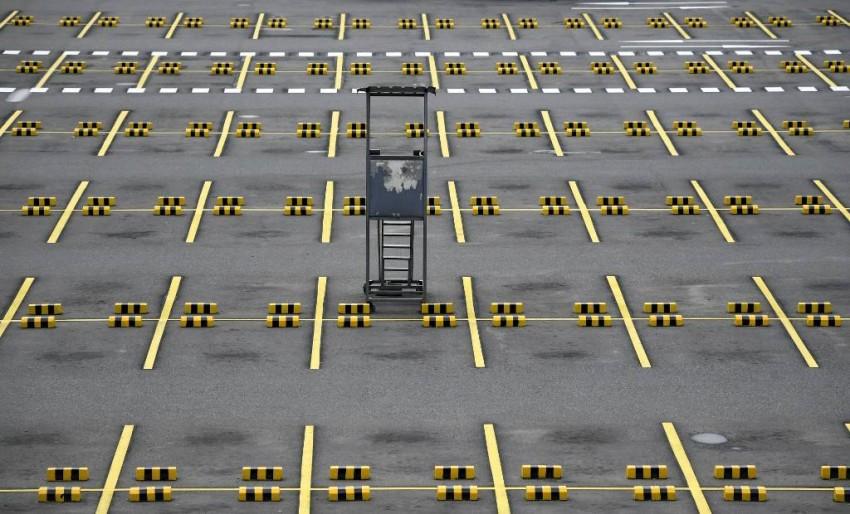 مواقف السيارات خالية تماماً في العاصمة الكولومبية بوغوتا - أ ف ب