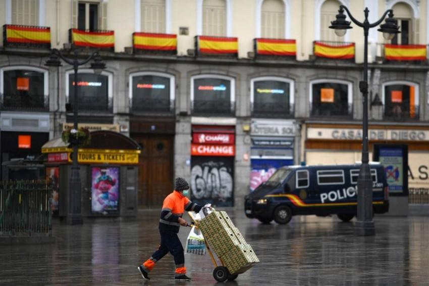 شوارع مدريد - أ ف ب