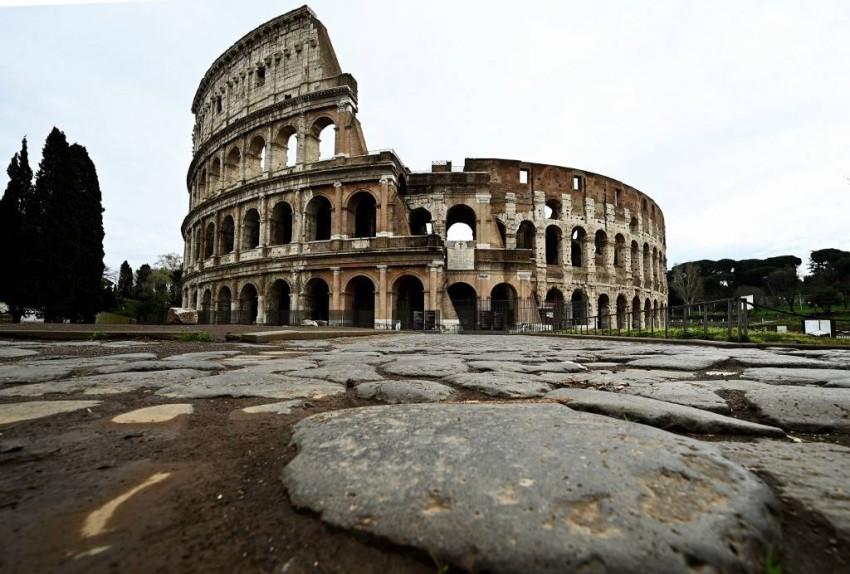 مدرج روما خالٍ تماماً - أ ف ب