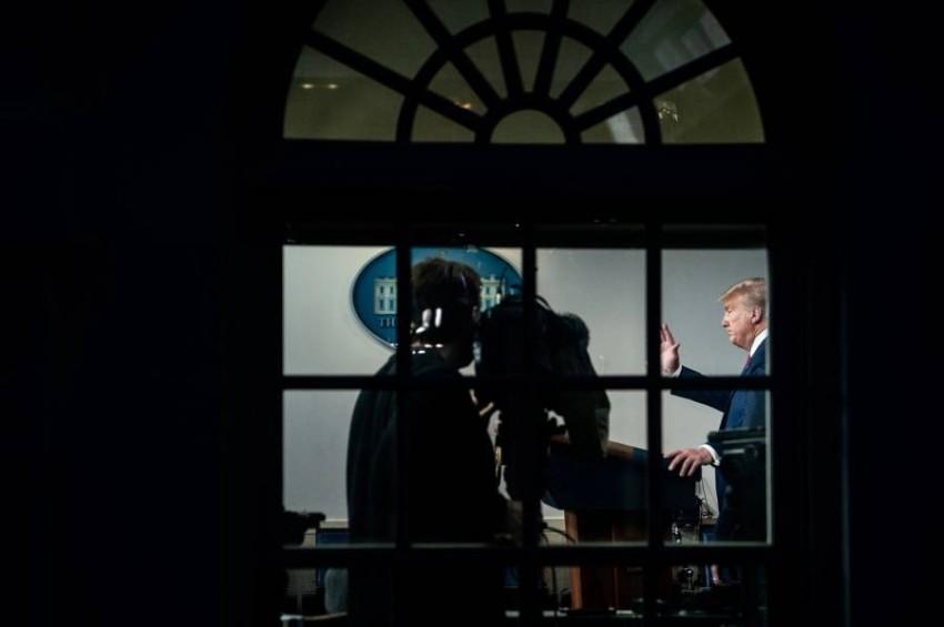 الرئيس الأمريكي دونالد ترامب في البيت الأبيض بواشنطن. (من المصدر)
