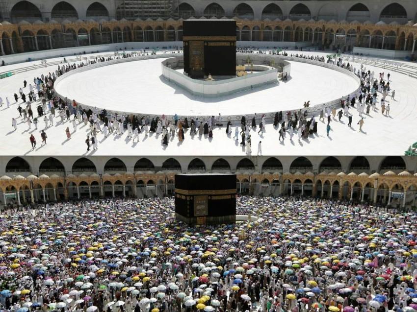 حظر التجول في مكة والمدينة طوال 24 ساعة. (أ ف ب )
