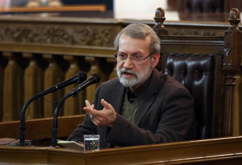 رئيس مجلس الشورى الإيراني علي لاريجاني.(أي بي أيه)