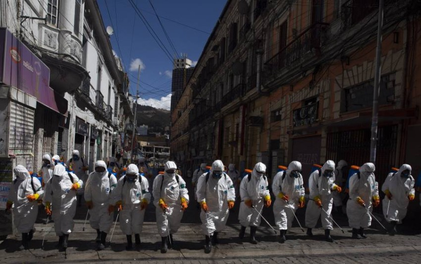 جهود احتواء الوباء في بوليفيا. أ ب