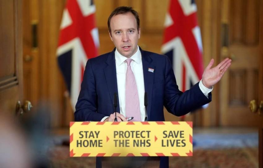 وزير الصحة البريطاني مات هانكون. (رويترز)