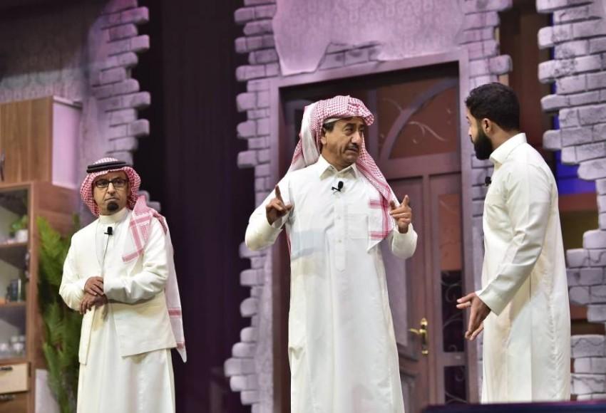 السناني مع القصبي في مسرحية الذيب في القليب