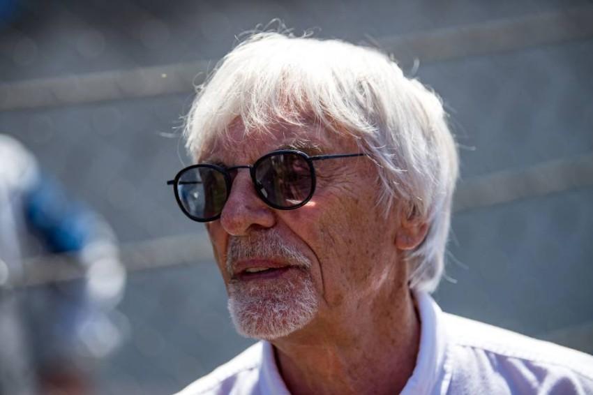 العراب السابق لبطولة العالم للفورمولا واحد البريطاني بيرني إيكليستون. (أ ف ب)