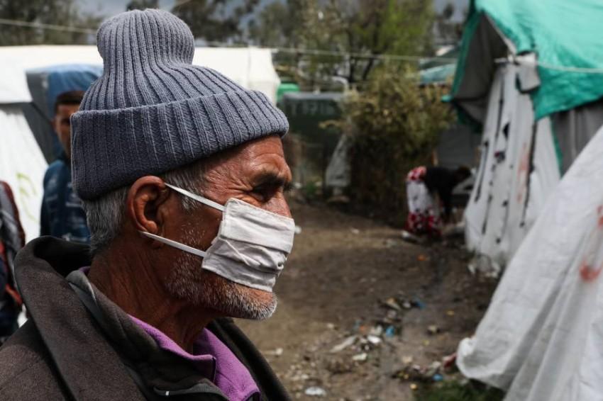 أوضاع مزرية في مخيمات اللاجئين في اليونان. (رويترز)