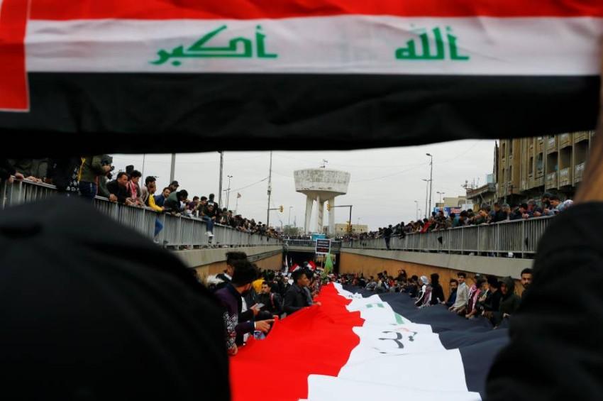 احتجاجات مناهضة للحكومة في العراق. (رويترز)